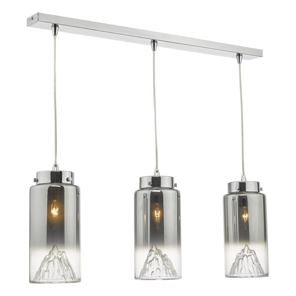 Vahla 3lt Bar Pendant Polished Chrome & Glass (double insulated) BXVAH0310-17